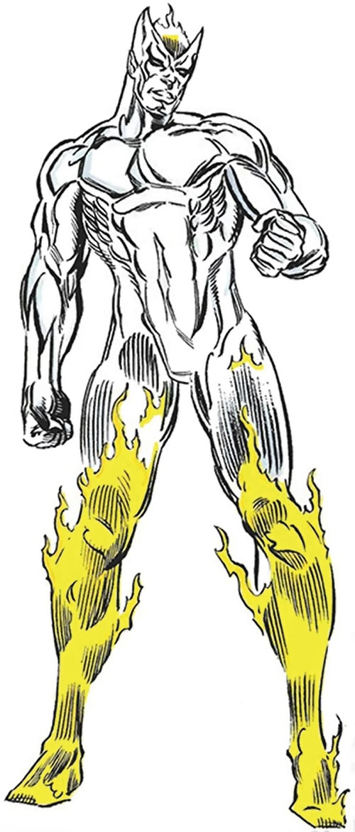 Equinox (Marvel Comics) (Spider-Man enemy) with legs ablaze