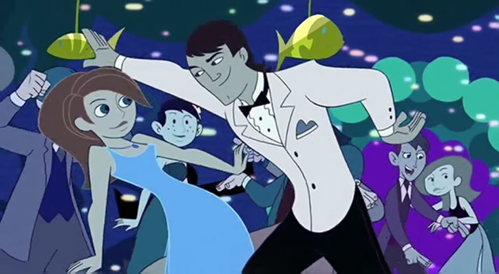 Erik Synthodrone 901 (Kim Possible) (So The Drama) dancing white tux