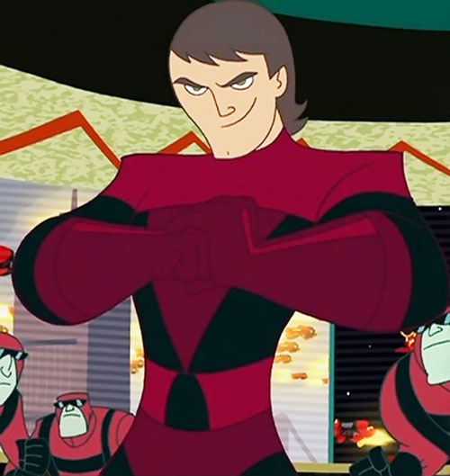 Erik Synthodrone 901 (Kim Possible) (So The Drama) in his red uniform
