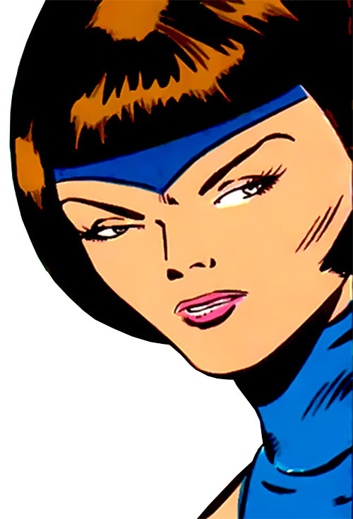 Esper Lass (Legion of Super-Heroes enemy) (DC Comics) face closeup
