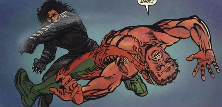 The Eternal Warrior (Gilad Anni-Padda) throws a punch