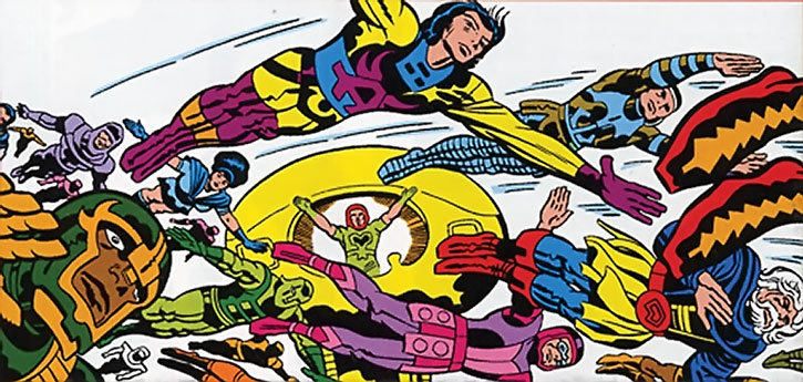 A crowd of flying Eternals