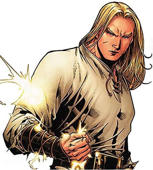 Ethan of Heron (Scion comics by Crossgen) dispersing his energy sword