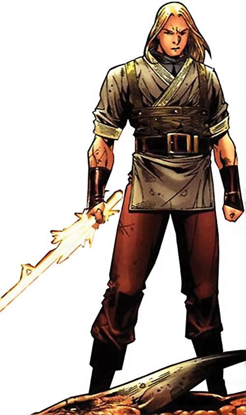 Ethan of Heron (Scion comics by Crossgen) standing sword in hand