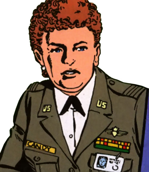 Etta Candy-Trevor (Wonder Woman ally) (DC Comics) in a green dress uniform