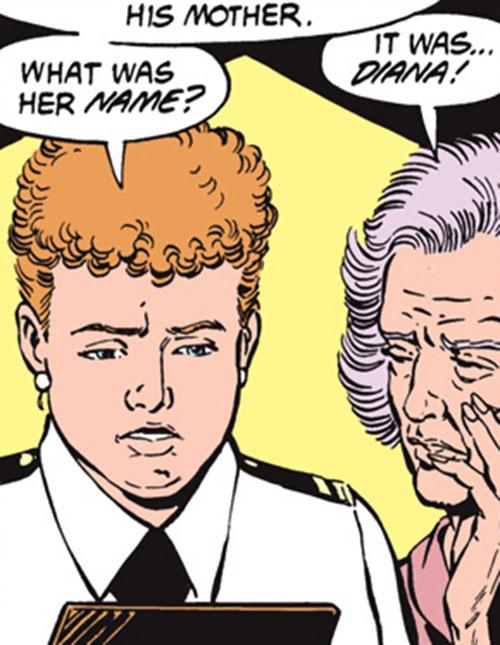 Etta Candy-Trevor (Wonder Woman ally) (DC Comics) and an older woman