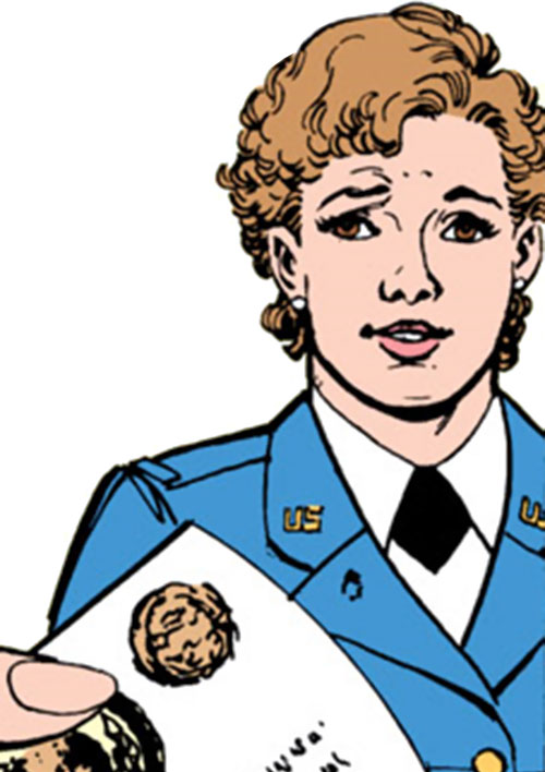 Etta Candy-Trevor (Wonder Woman ally) (DC Comics) looking sarcastic