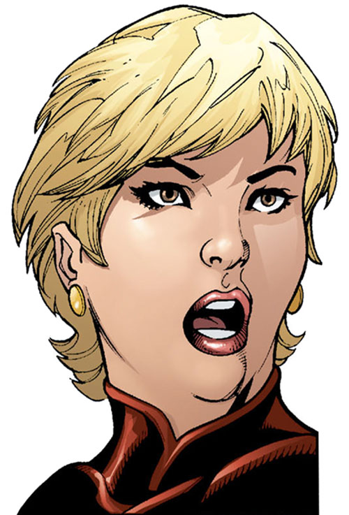 Etta Candy-Trevor (Wonder Woman ally) (DC Comics) face closeup with short hair