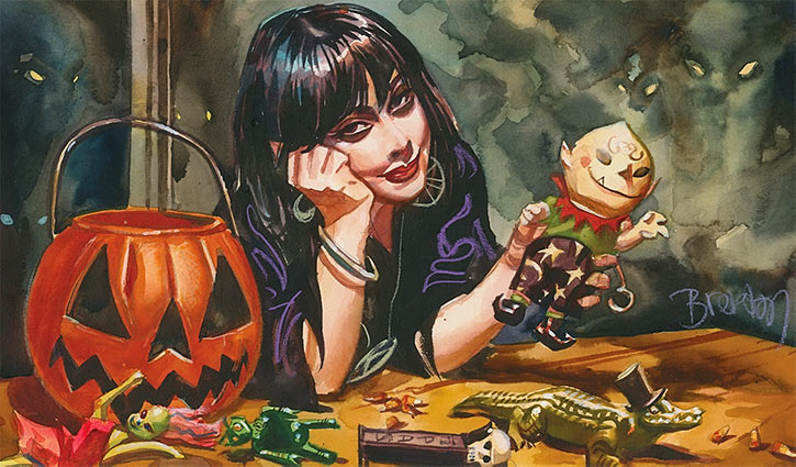 Nocturnals - Eve Horror Halloween Girl - Brereton comics - 1994 toys