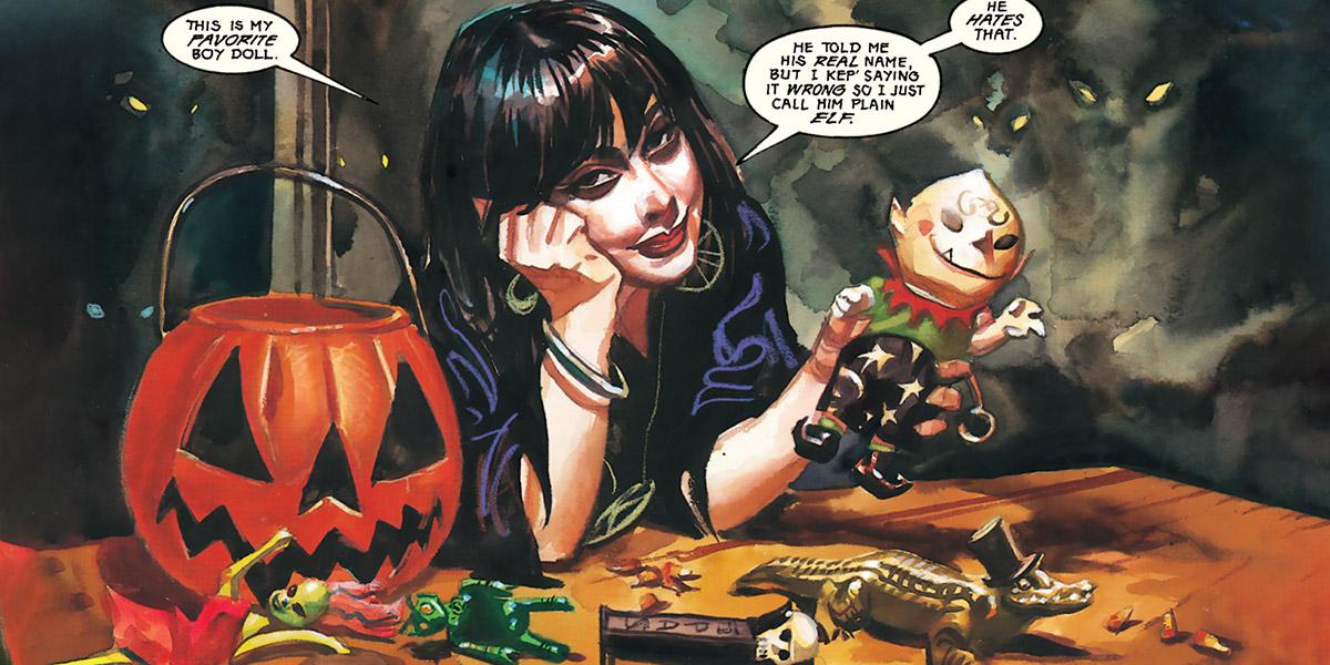 Nocturnals - Eve Horror Halloween Girl - Brereton comics - 1994 toys