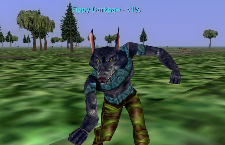 Everquest 1 - Fippy Darkpaw the gnoll attacking outside of Qeynos