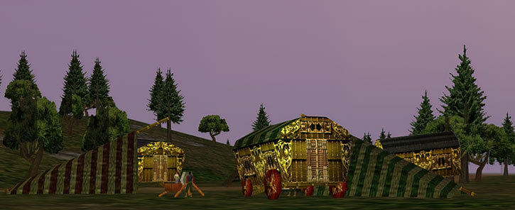 Everquest 1 - Karana gypsies - camp at dawn