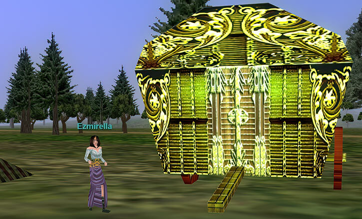 Everquest 1 - Karana gypsies - Ezmirella and house wagon
