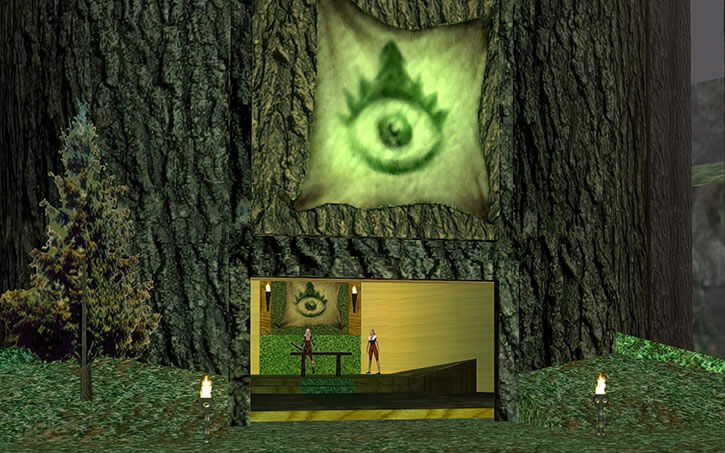 Everquest 1 - druid tree headquarters in Surefall Glade