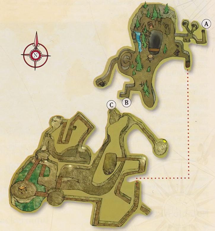 Map of the Blackburrow upper levels