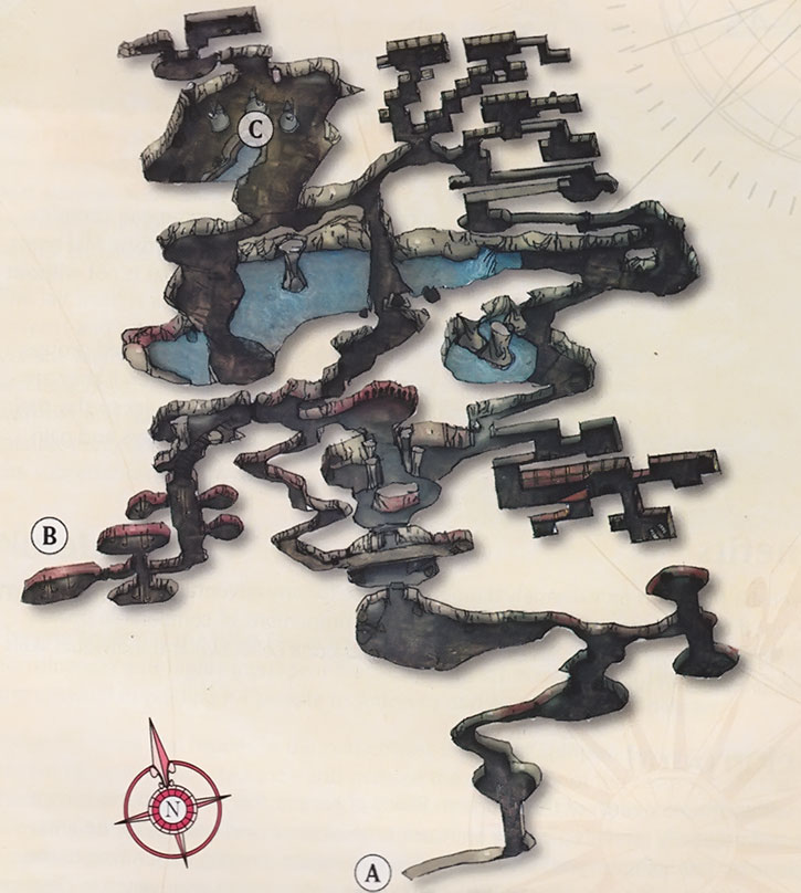 Map of the Splitpaw Lair