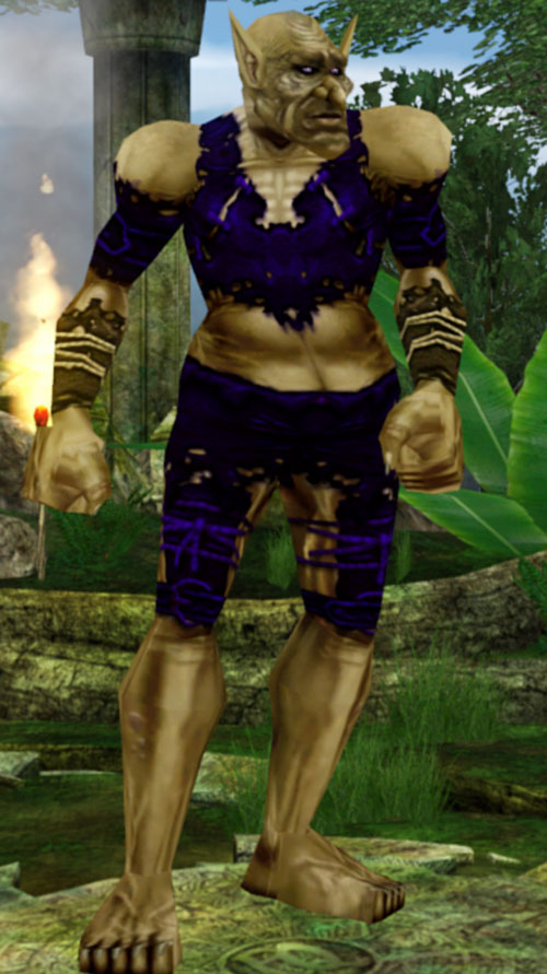 Everquest 1 troll beastlord in blue leather