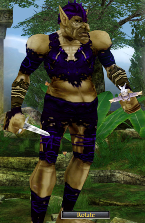 Everquest 1 troll beastlord blue armour knife and doll