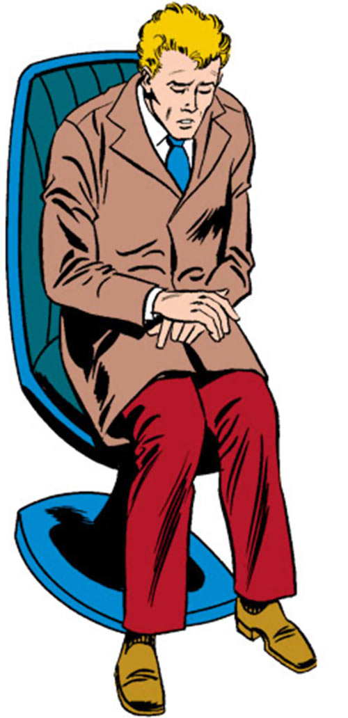 Every-Man aka Everyman - Marvel Comics - Larry Ekler - Absorbascann - sitting awkwardly