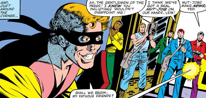 Every-Man aka Everyman - Marvel Comics - Larry Ekler - face and journalists