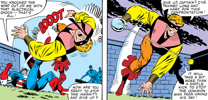 Every-Man aka Everyman - Marvel Comics - Larry Ekler - fighting with rapier