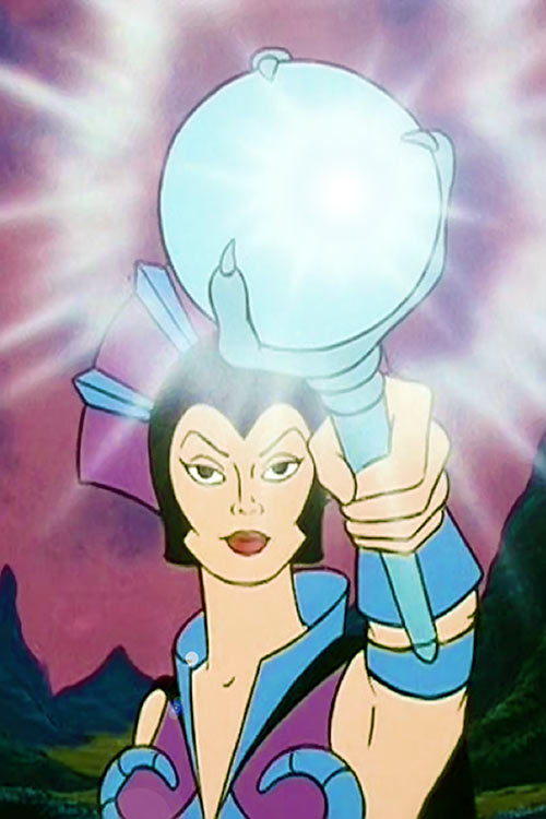 Evil-Lyn (Masters of the Universe cartoon) glowing wand ball