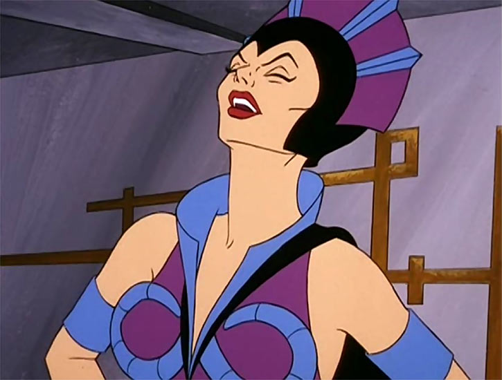 Evil-Lyn (Masters of the Universe cartoon) laughing