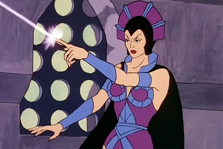 Evil-Lyn (Masters of the Universe cartoon) casting spell bolt