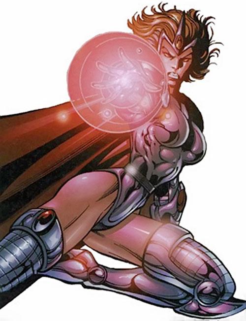 Evinlea (Crossgen Negation comics) flying and blasting