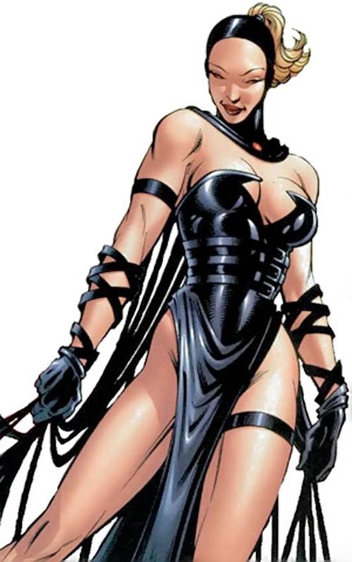 Evinlea (Crossgen Negation comics) in black lingerie