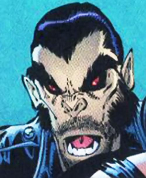 Evo (DV8) (Wildstorm Comics)'s bestial face