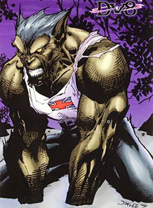 Evo (DV8) (Wildstorm Comics) in wolf form by Jim Lee