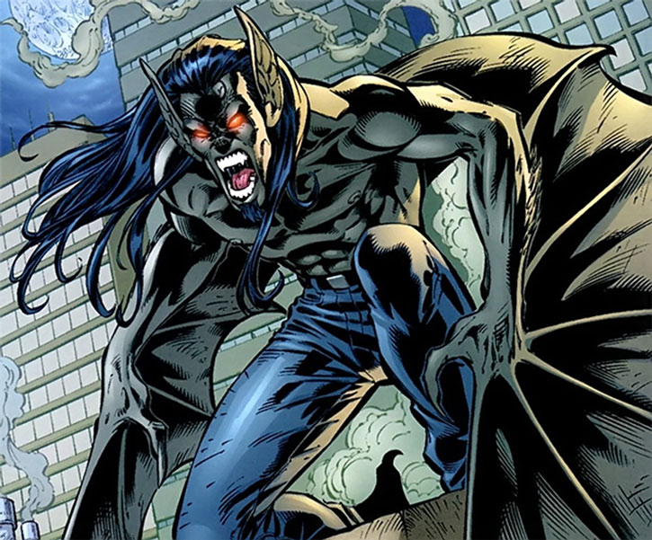 Evo of DV8 (Wildstorm Comics) in bat form at night
