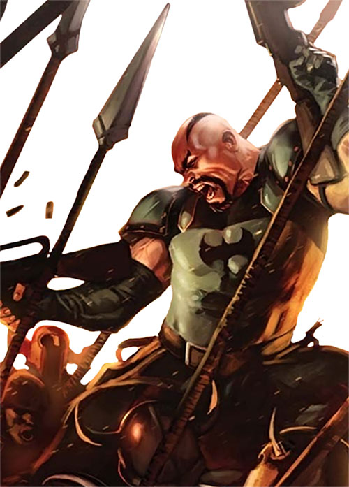 The Executioner (Skurge) with assault rifles, holding the bridge