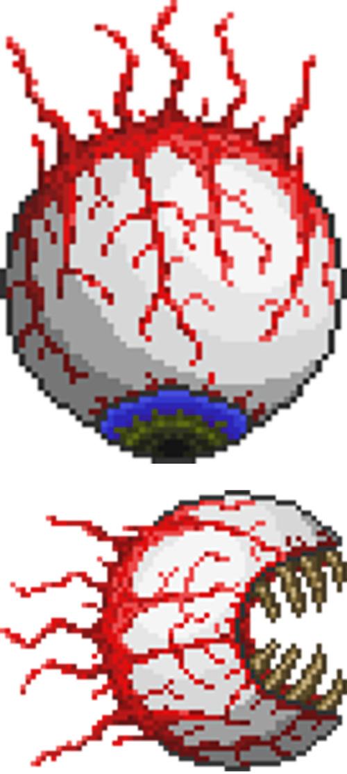 Eye of Cthulhu in the Terraria game
