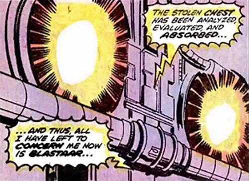 "F.A.U.S.T. (FAUST Factory) (Marvel Comics)'s ""eyes"""