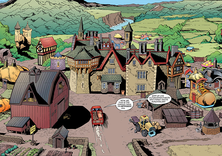 The Fables' Farm main village