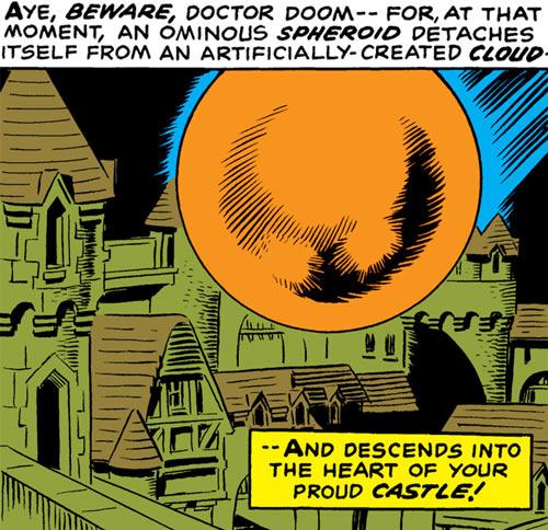 Faceless One (Doctor Doom enemy) (Marvel Comics) starship
