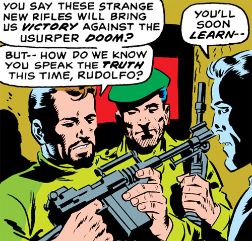 Latverian rebels (Marvel Comics) with the Faceless One's guns