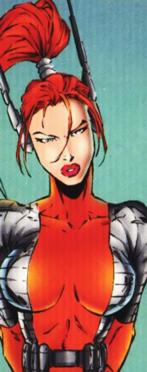 Fahrenheit (Stormwatch) (Wildstorm Comics) with the orange and gray costume