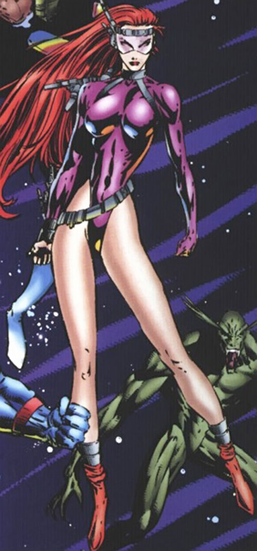Fahrenheit (Stormwatch) (Wildstorm Comics) in the purple costume