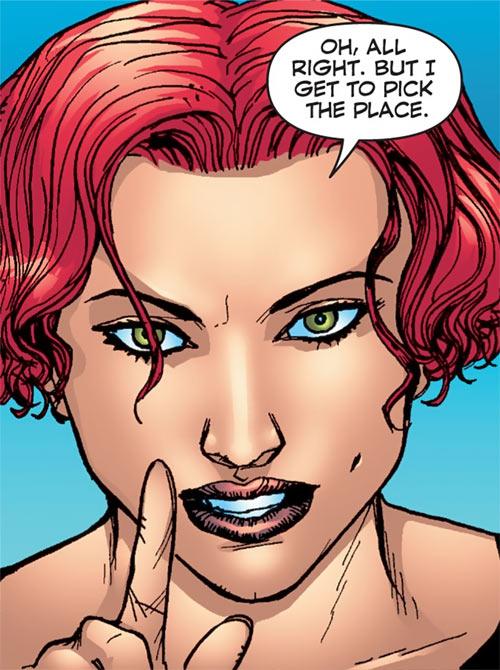 Fahrenheit (Stormwatch) (Wildstorm Comics) unmasked face closeup