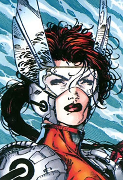Fahrenheit (Stormwatch) (Wildstorm Comics) early headgear by Jim Lee