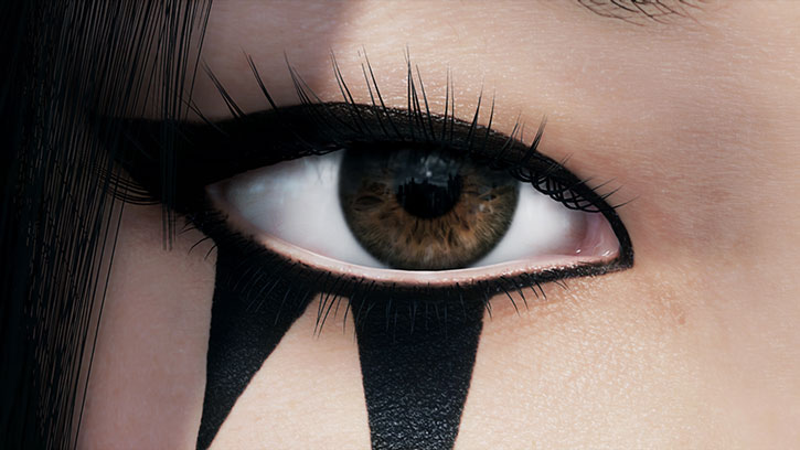 Faith Connors (Mirror's Edge) eye tattoo