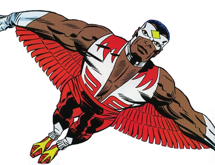 The Falcon (Sam Wilson) by Jack Kirby, flying
