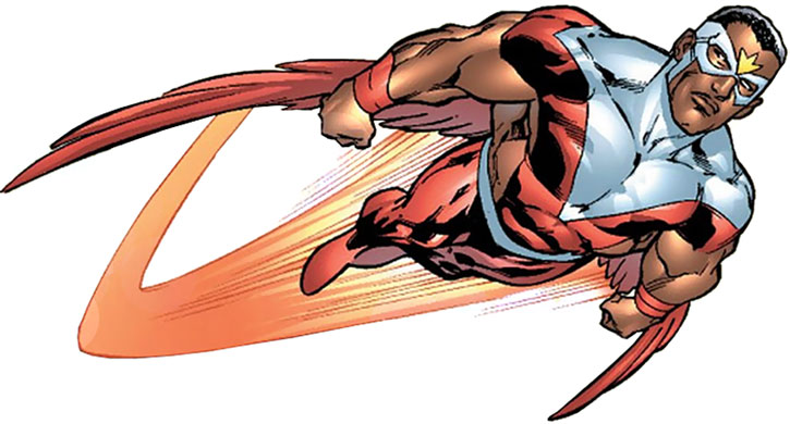 The Falcon (Sam Wilson) in flight