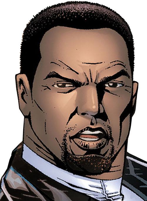 Falcon of the Avengers (Captain America ally) (Marvel Comics) face closeup