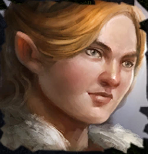 Character portrait from the video game Fall of the Dungeon Guardians