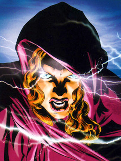 Fallen Angel (Peter David comics) (Lee) face closeup with lightning coming out of her eyes