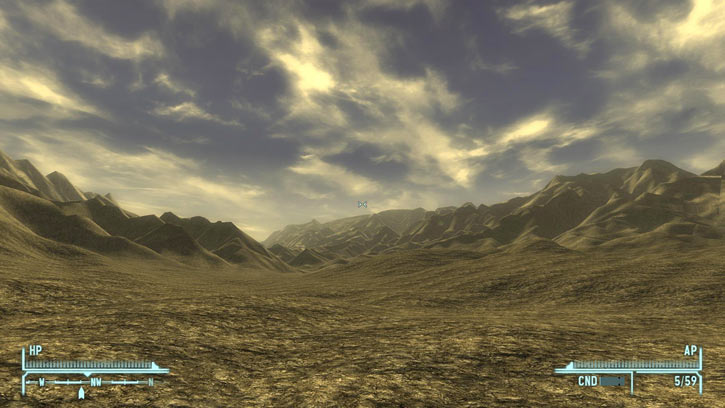Fallout 1 story mod - desert and mountains